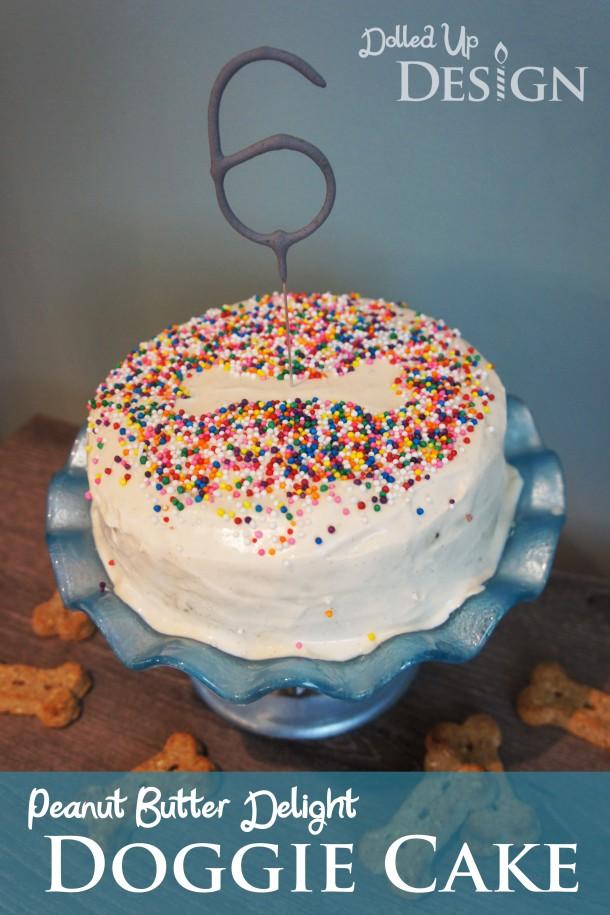Peanut Butter Delight Dog Birthday Cake Recipe