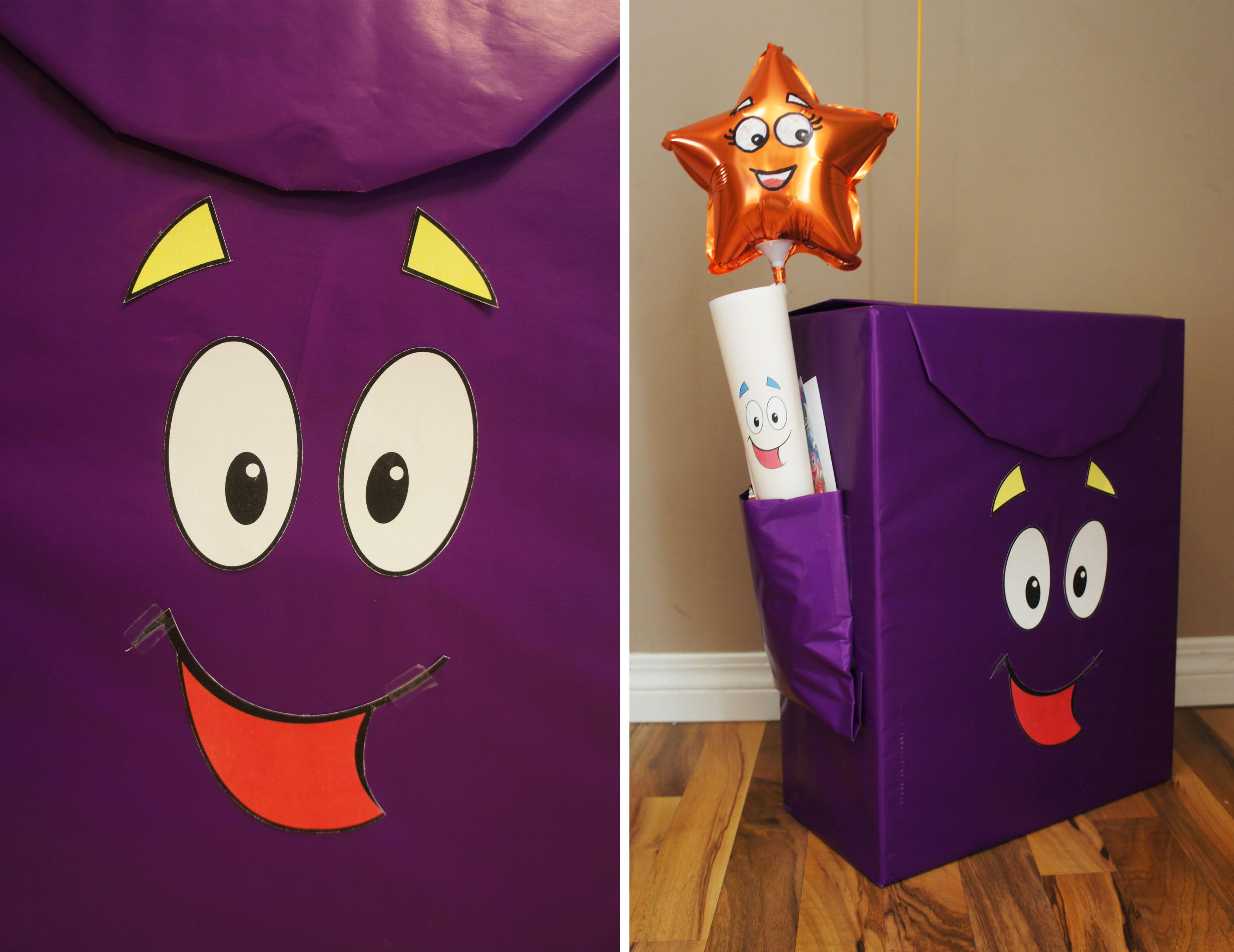 backpack backpack dora themed gift wrap