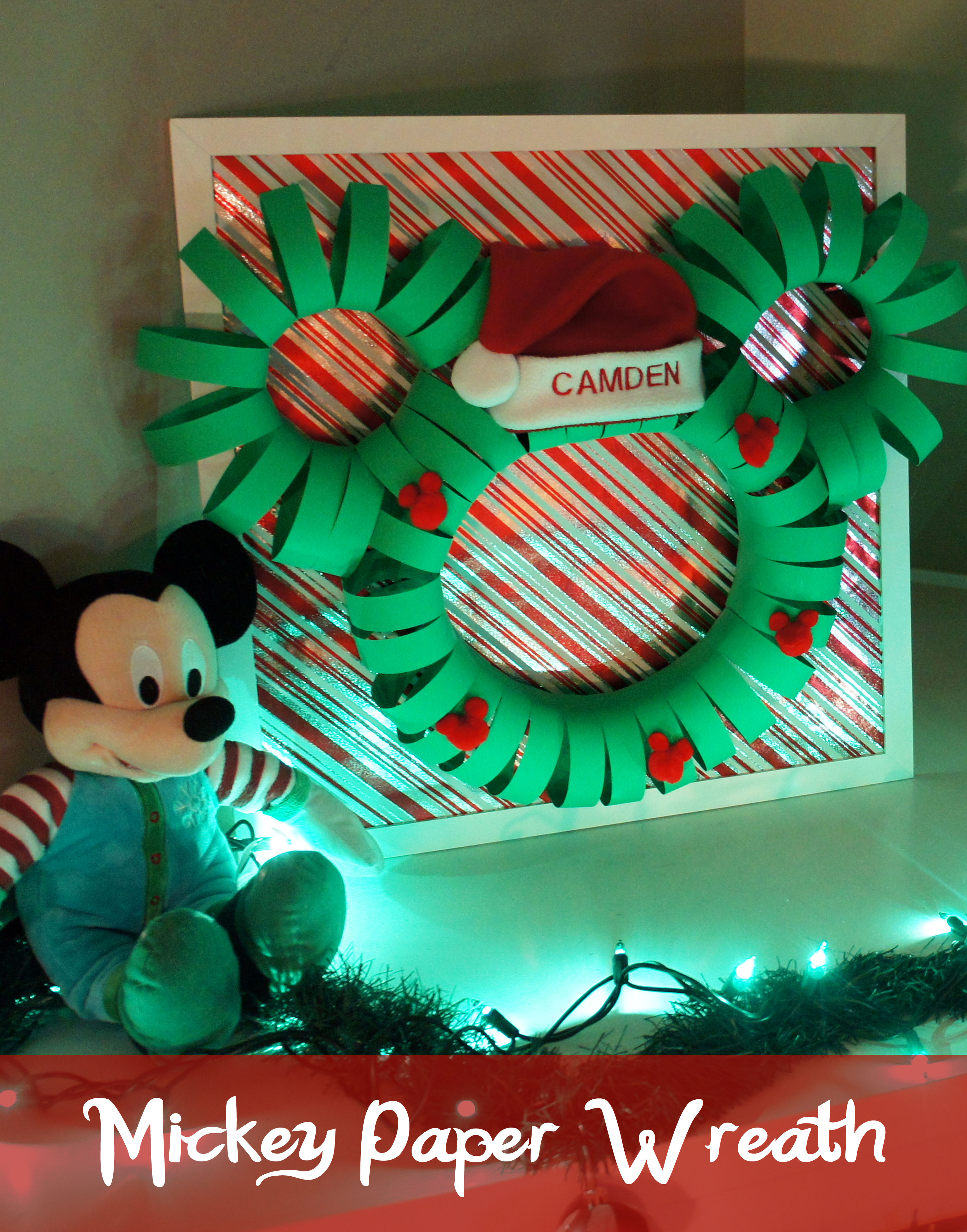 Mickey Paper Wreaths