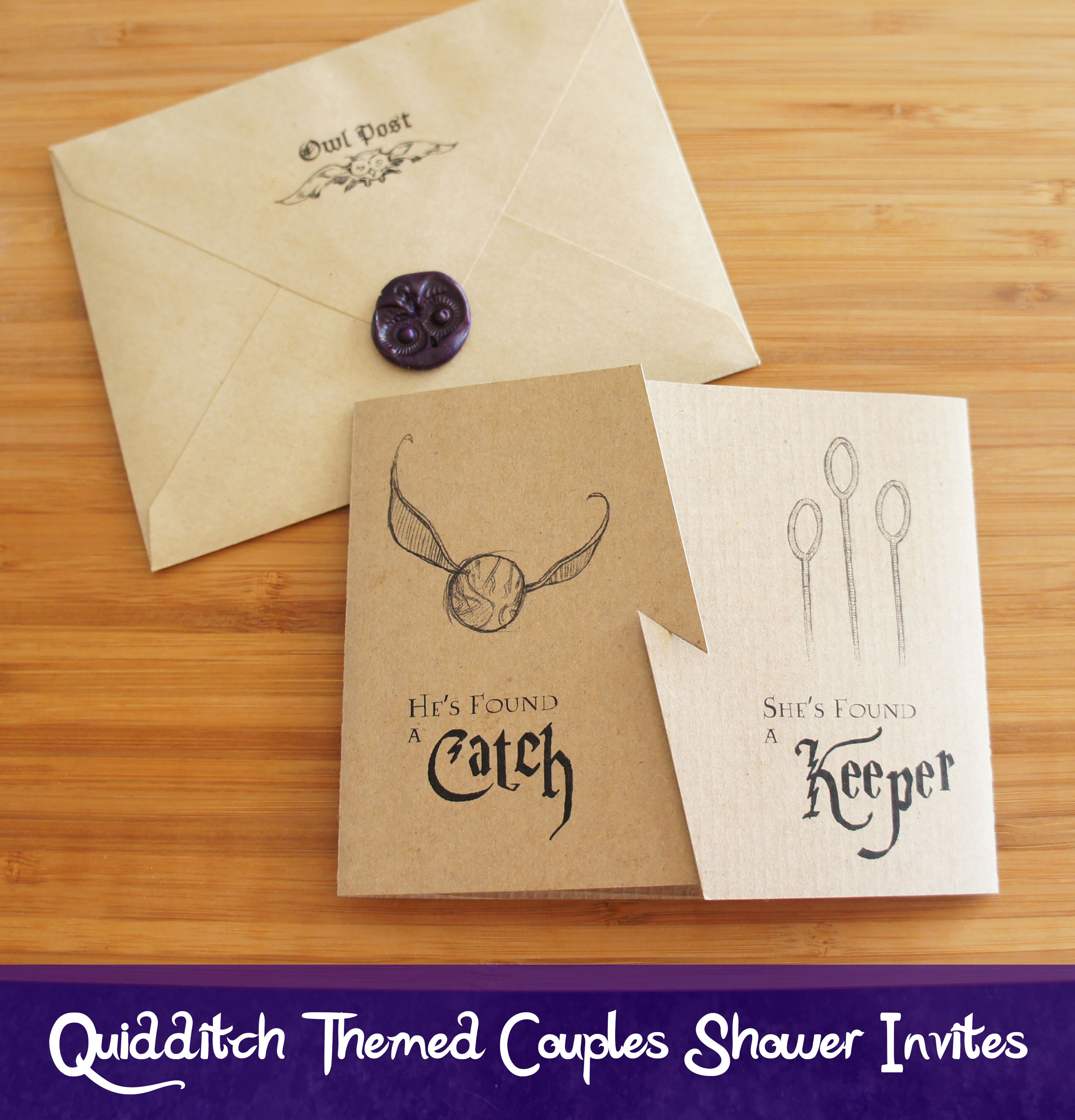 Quidditch inspired invites for a harry potter themed couples shower confession i have never read harry potter i vaguely remember watching the first movie but that was way back when it first came out and i couldnt solutioingenieria Gallery