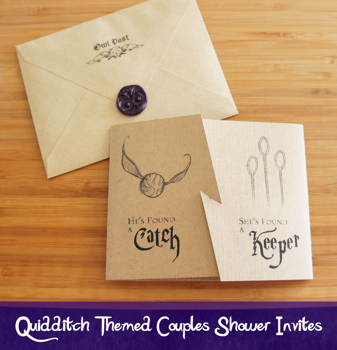 Quidditch Inspired Invites for a Harry Potter Themed Couples Shower
