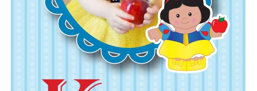 snow white 2nd birthday invites