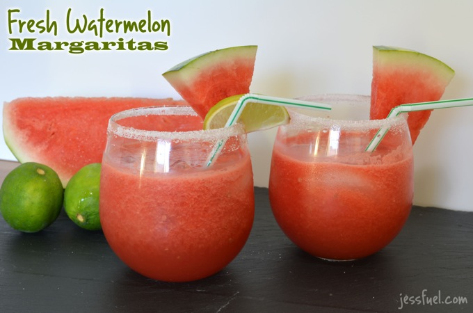 Fresh Watermelon Margaritas from Flying on Jess Fuel . Watermelon ...