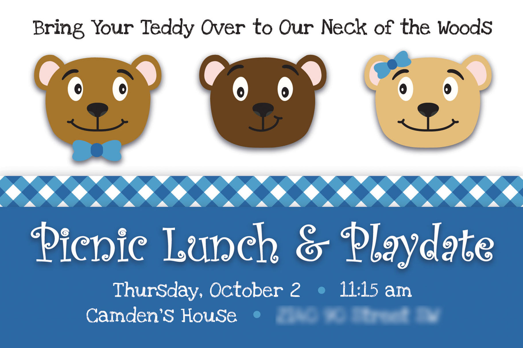 Teddy Bear Picnic Invitation