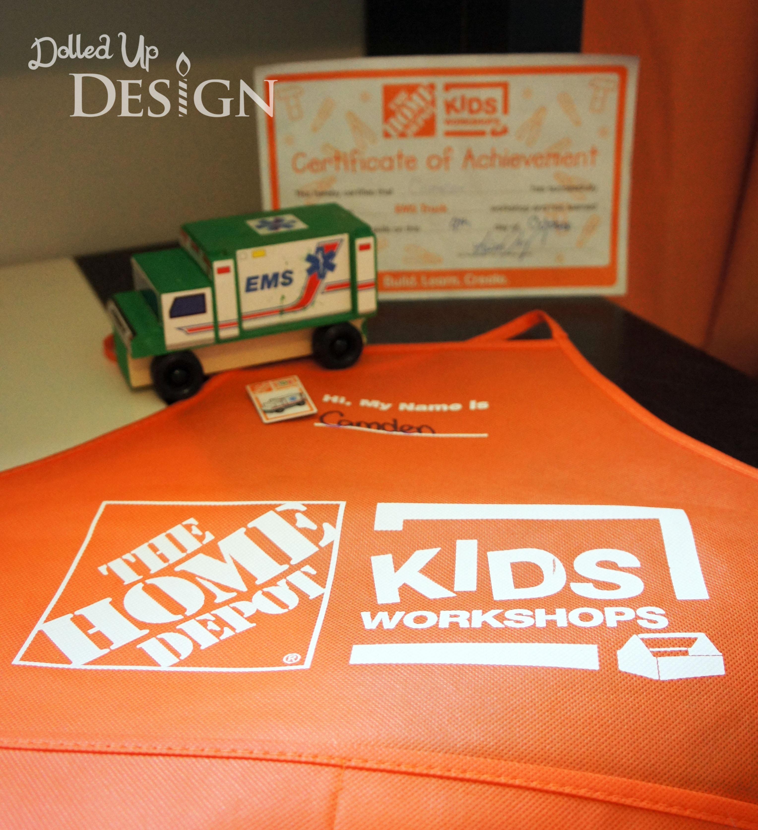 Home depot kids workshop for Kids crafts at home depot