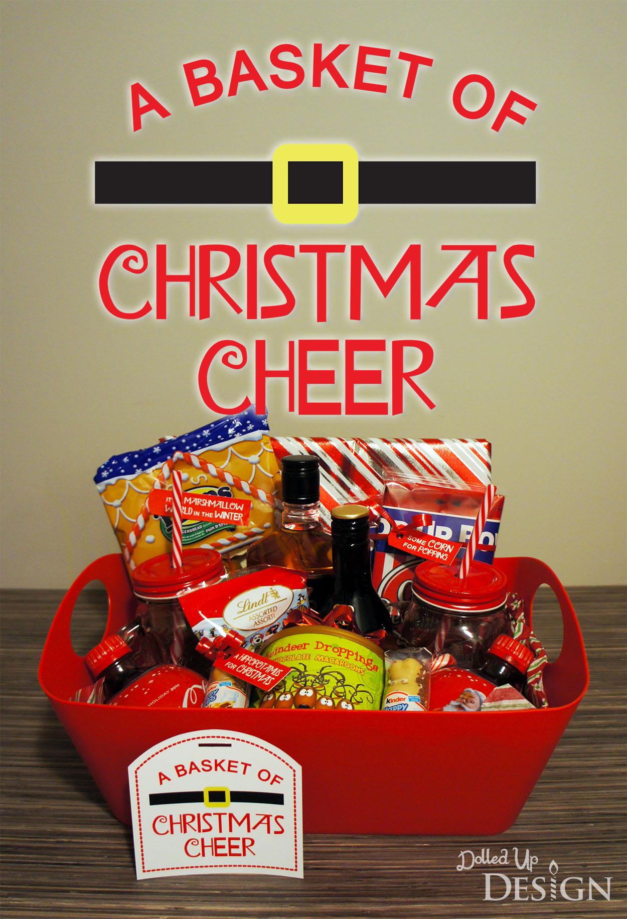 Dollar store christmas gift basket ideas