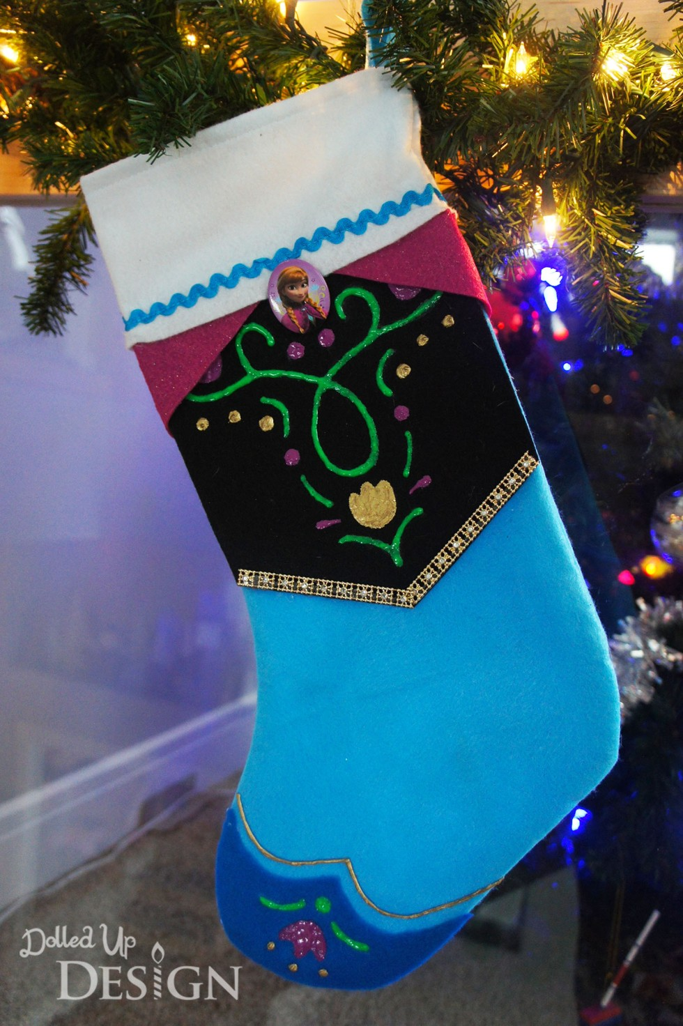 Transform a felt stocking with these fun character options