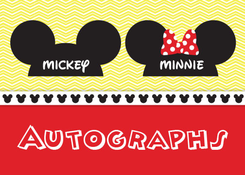 graphic regarding Printable Disney Autograph Book named Crafted in direction of Indicator: Do it yourself Disney Autograph Ebook