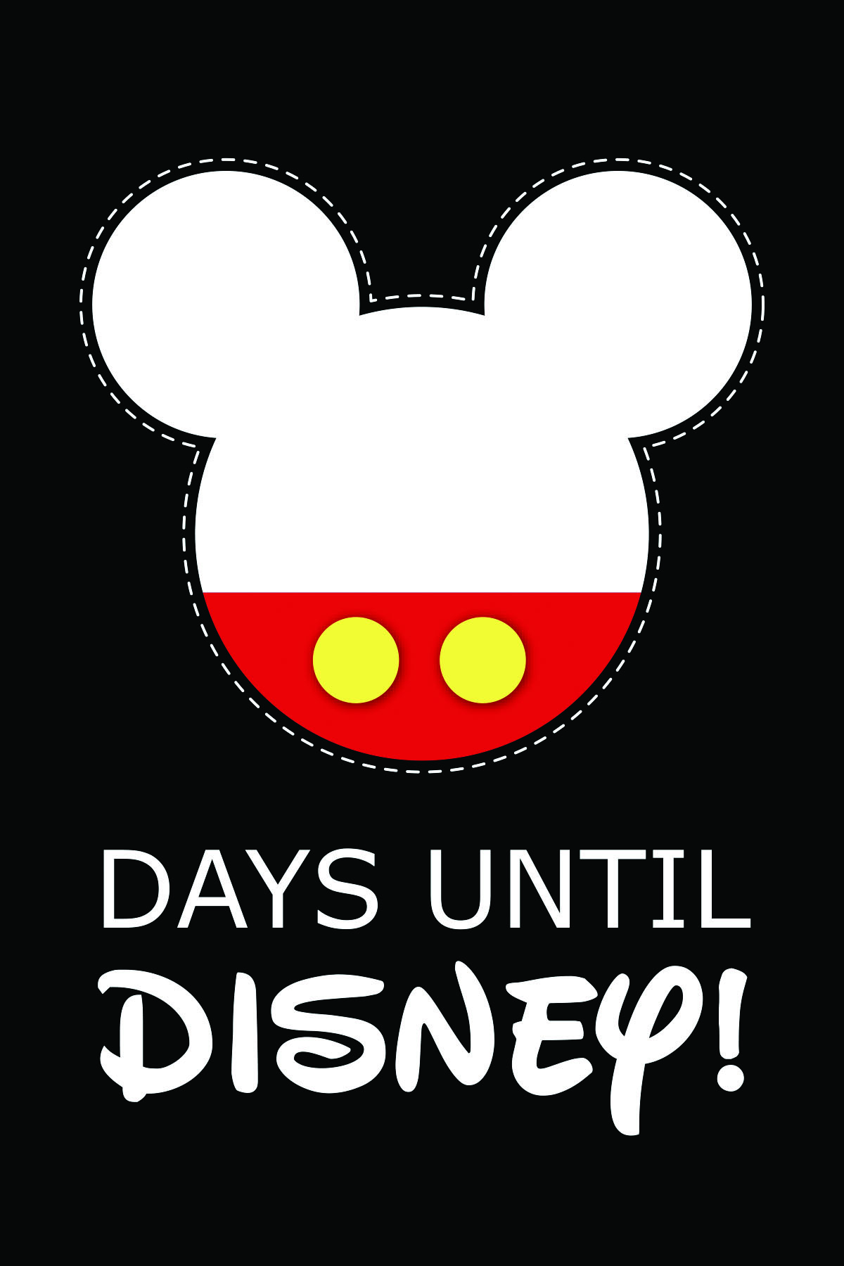 picture relating to Disney Countdown Calendar Printable identified as Do-it-yourself Printable Disney Countdown