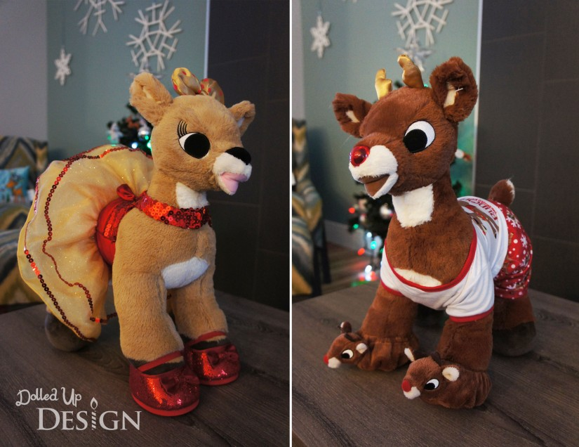 Build-A-Bear Clarince and Rudolph 2014