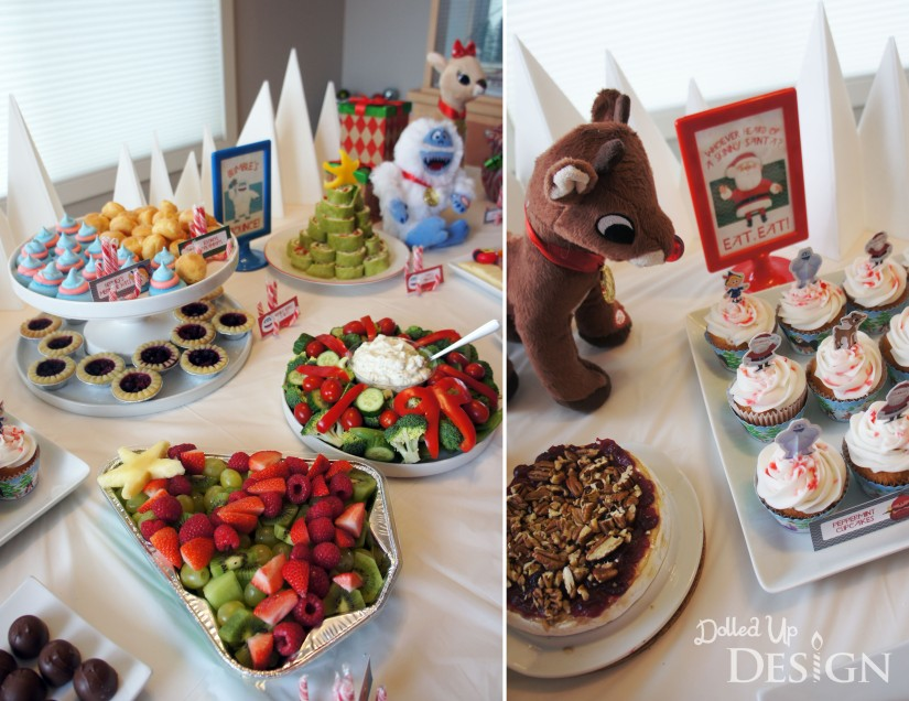 Rudolph Holiday Party Food and Decorations