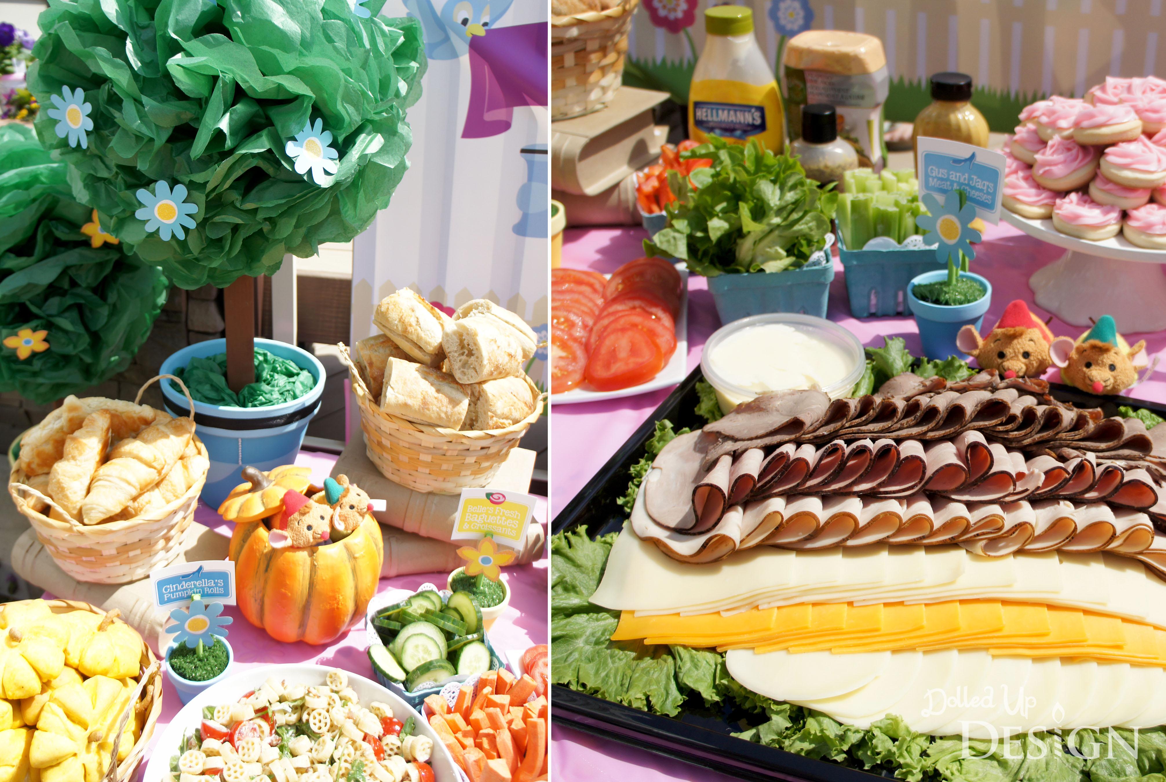 A princess garden party for Food bar garden