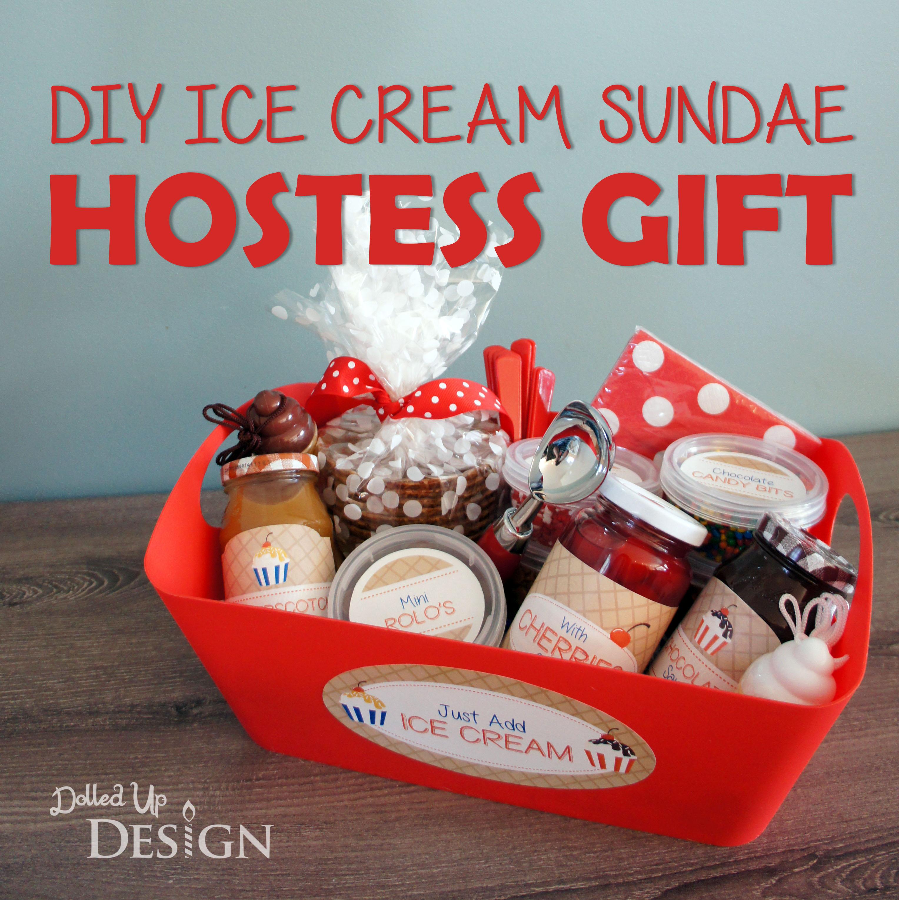 DIY Ice Cream Sundae Hostess Gift