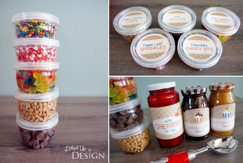 DIY Ice Cream Sundae Hostess Gift l DolledUpDesign