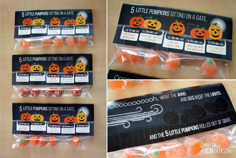 5 Little Pumpkins Printable Treat Toppers