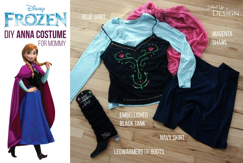Frozen DIY Anna Costume for Mommy