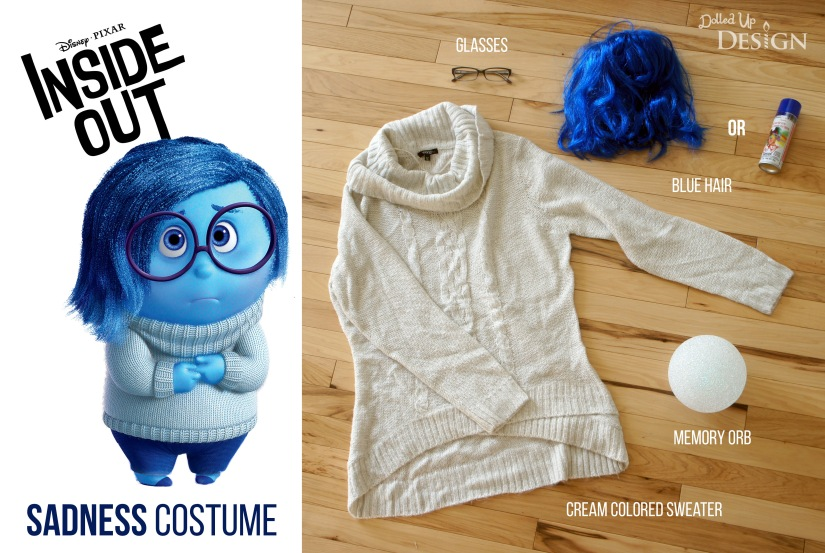 Inside Out Sadness Halloween Costume