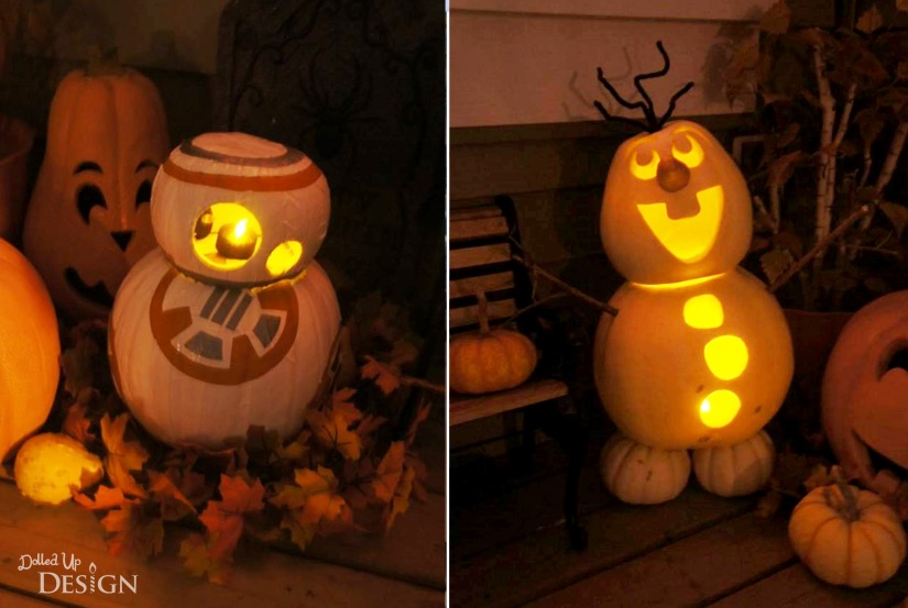 Star Wars BB8 Pumpkin and Olaf Pumpkin