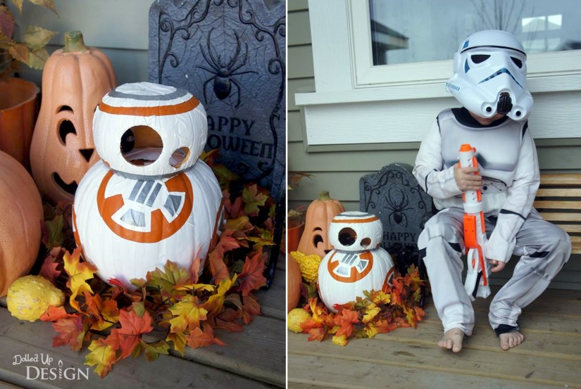 Star Wars BB8 Pumpkin and Stormtrooper Costume