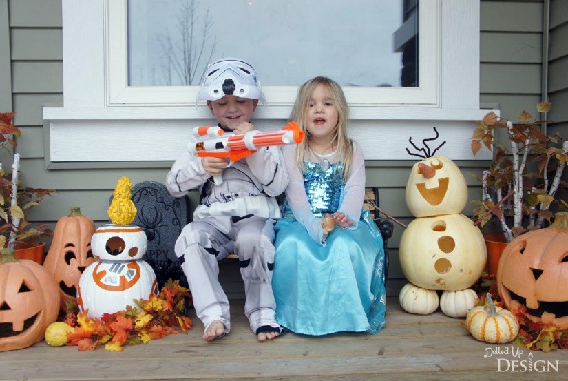 Halloween 2015 - Star Wars and Frozen