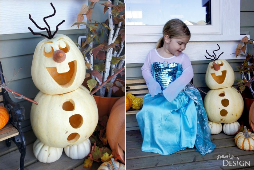 Frozen Elsa Costime and Olaf Pumpkin