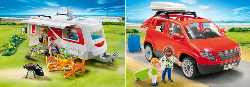 Playmobil_Family SUV and Caravan