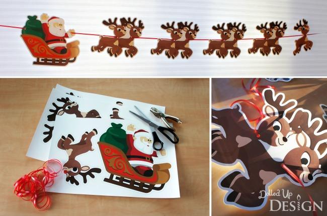 Rudolph Printable Banner
