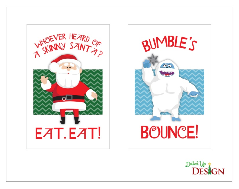 Rudolph Party Printables Table Signs