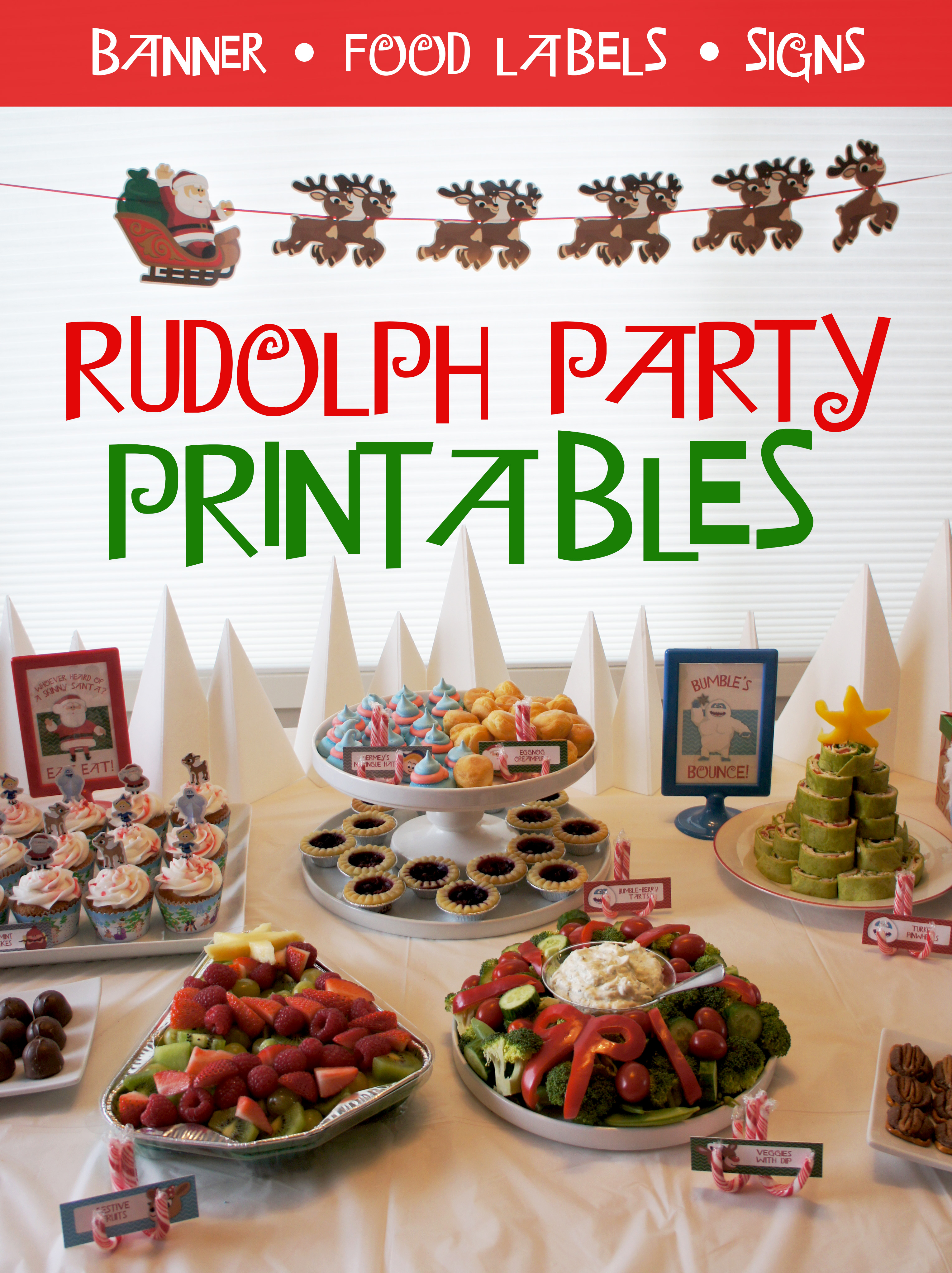 Rudolph Party Printables