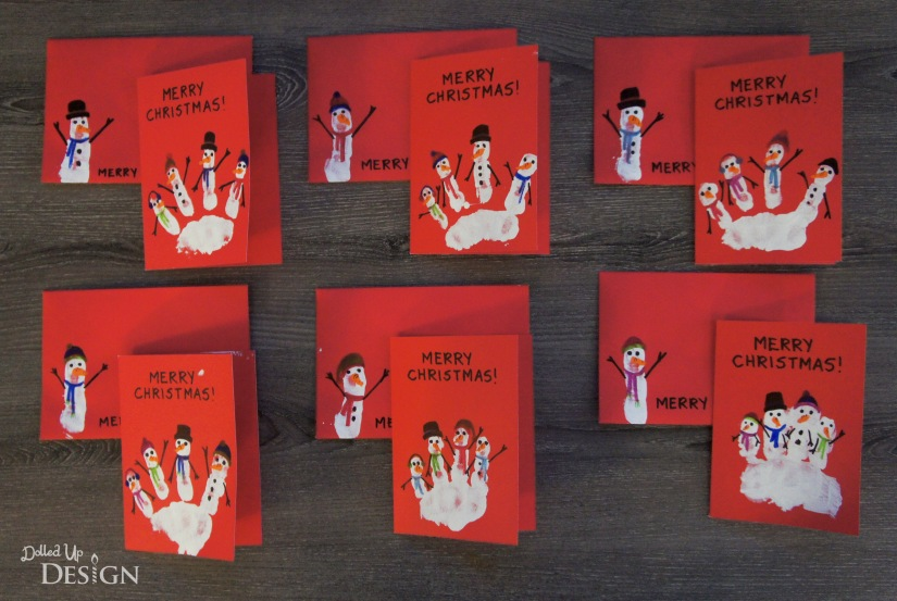 Snowman Christmas Cards Ideas.Easy Diy Handprint Snowman Christmas Cards