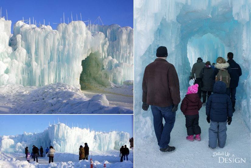 Entrance to Ice Castle's Edmonton, Alberta