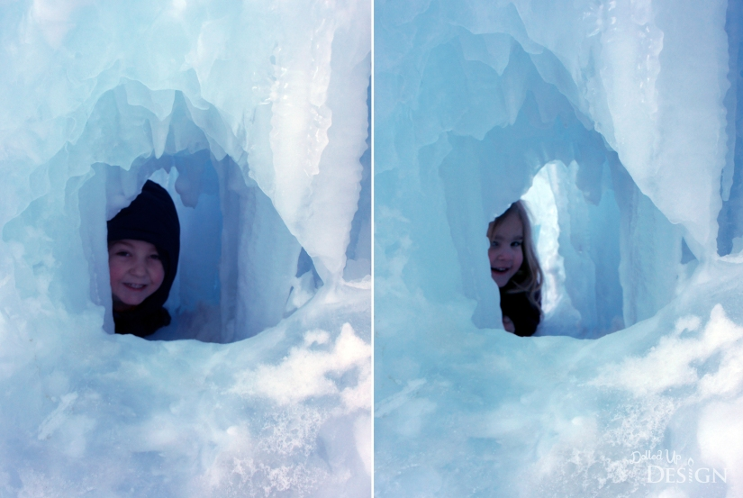 Peekaboo at Ice Castle's Edmonton, Alberta