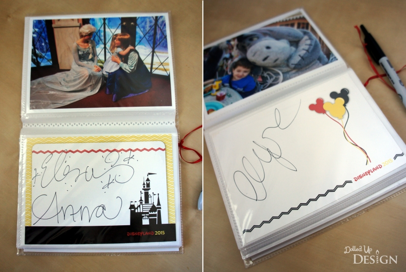 DIY Disney Autograph Album_DolledUpDesign