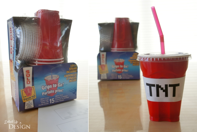 Minecraft TNT Party Cups using Solo Grips to Go!