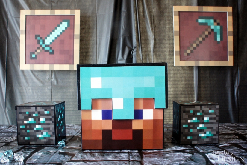 Diamond Steve Minecraft Party Decorations