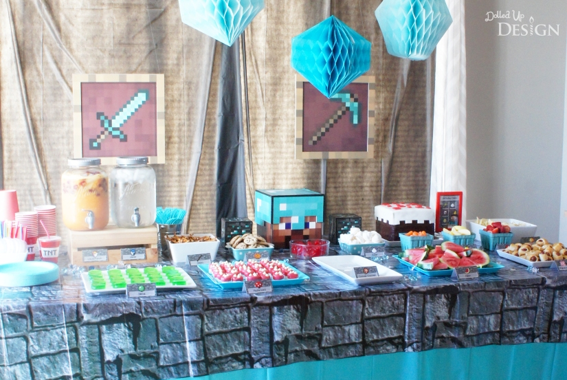 Diamond Steve inspired Minecraft Party