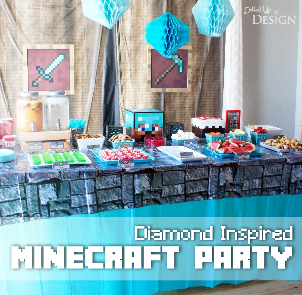 Diamond Inspired Minecraft 6th Birthday Party