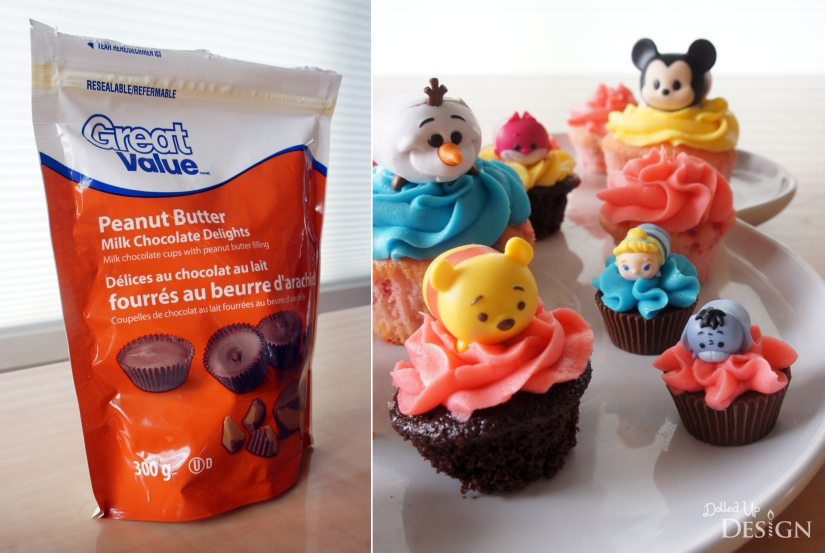 Jakks Pacific Tsum Tsum Cupcake Toppers with Peanut Butter Cups