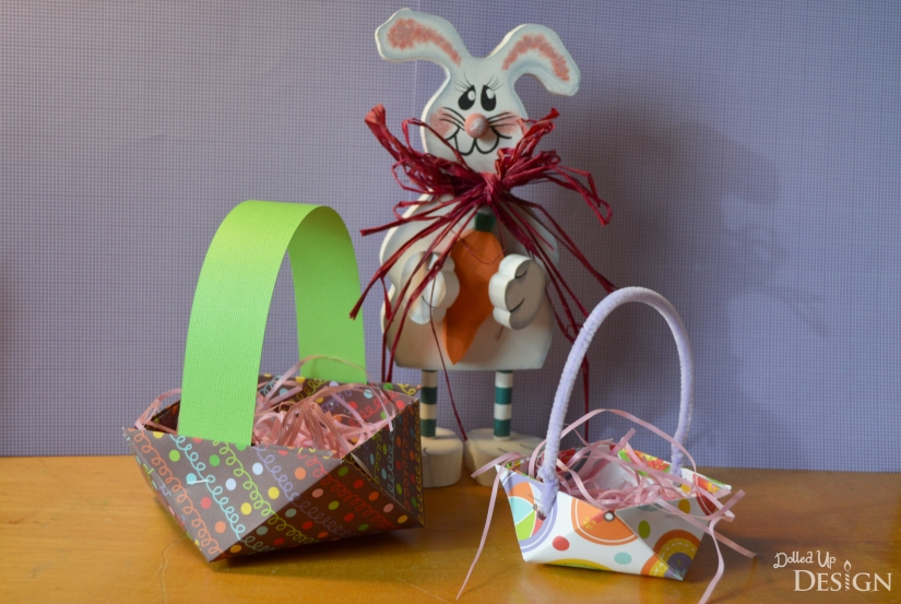 3D Paper Easter Basket from scrapbook paper