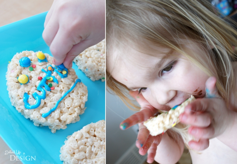 Easter Egg Decorating with Rice Krispie Treats