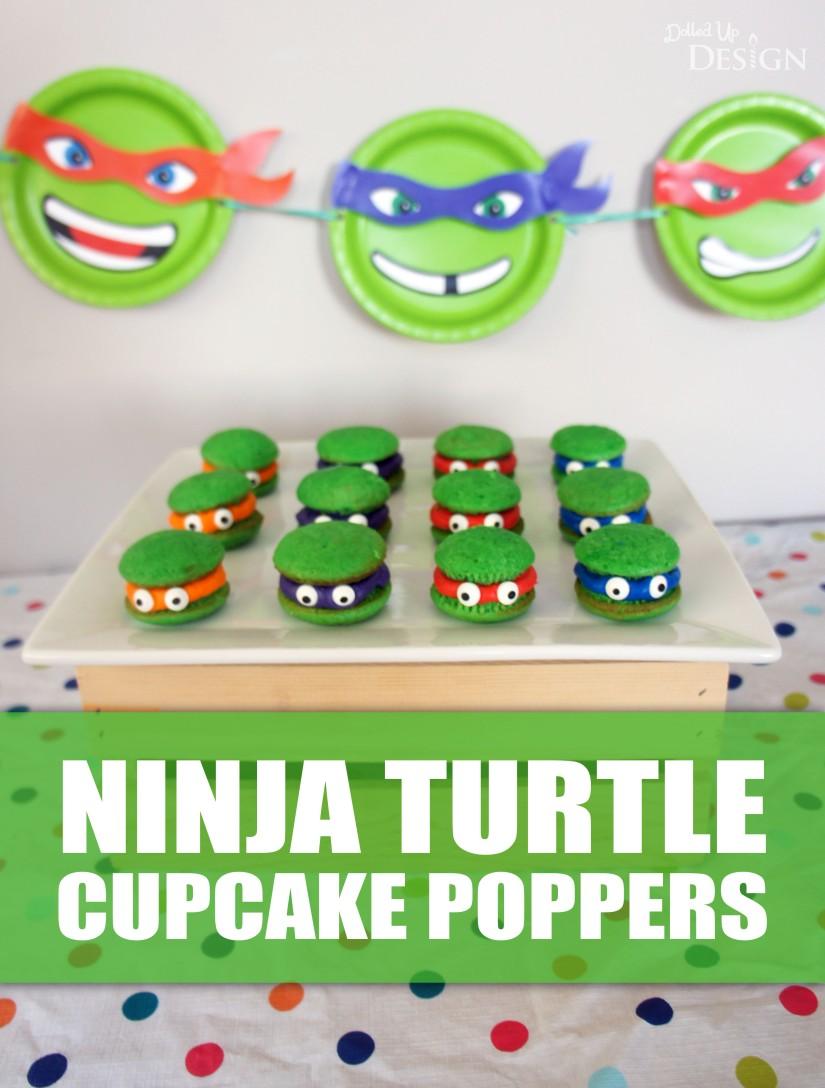Ninja Turtle Cupcake Poppers