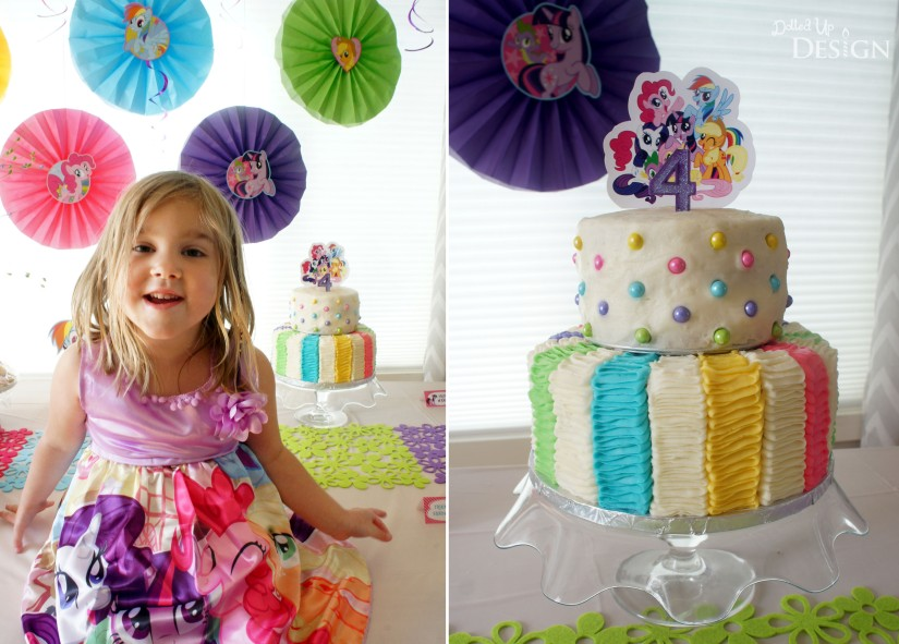 My Little Pony Party Birthday Cake