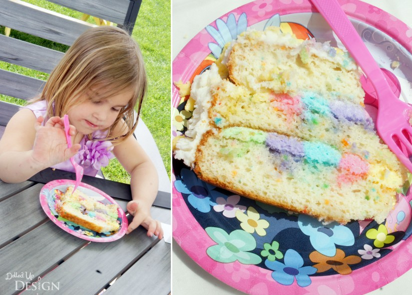 My Little Pony Party Rainbow Cake