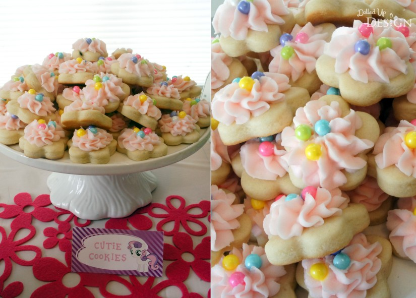 My Little Pony Party Cutie Sugar Cookies