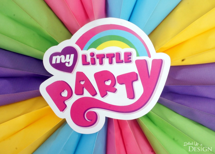 My Little Pony Party Door Sign