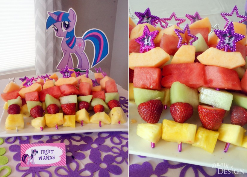 My Little Pony Party Fruit Wands
