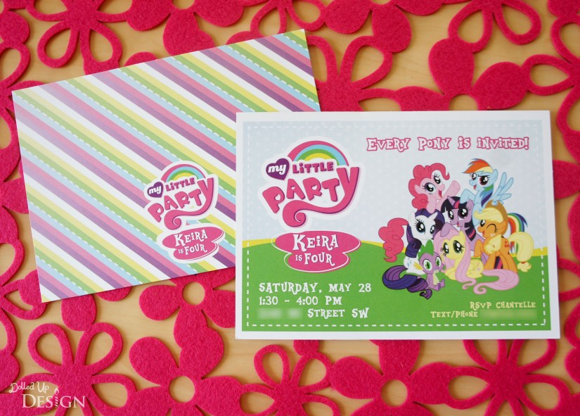 Keiras my little pony 4th birthday party my little pony party invitation solutioingenieria Gallery