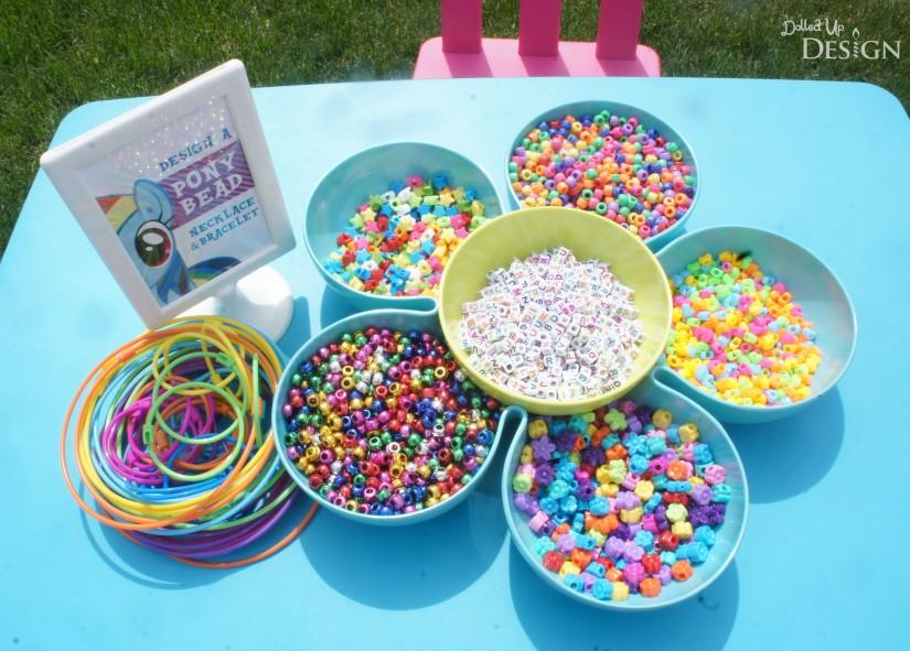 My Little Pony Party Activity - Pony Bead Necklaces