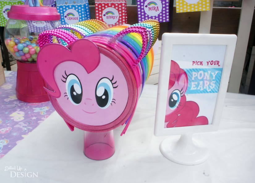 Keiras my little pony 4th birthday party my little pony party pony ear favors solutioingenieria Gallery