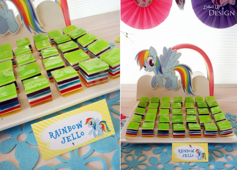 My Little Pony Party Food - Rainbow Jello